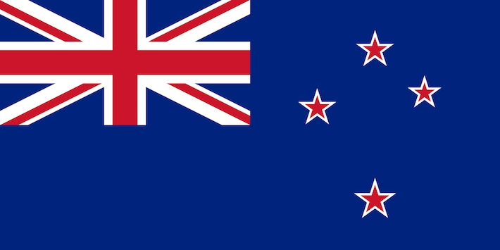 La bandiera della Nuova Zelanda